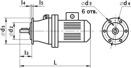 Мотор-редуктор планетарный ЗМП-40. Фланцевое исполнение